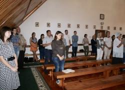 Вечірня молитва студентів першого навчального тижня